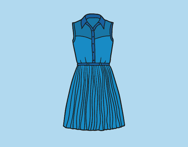 Coloring page Denim dress painted byLornaAnia