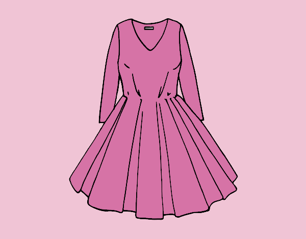 Coloring page Dress with full skirt painted byLornaAnia