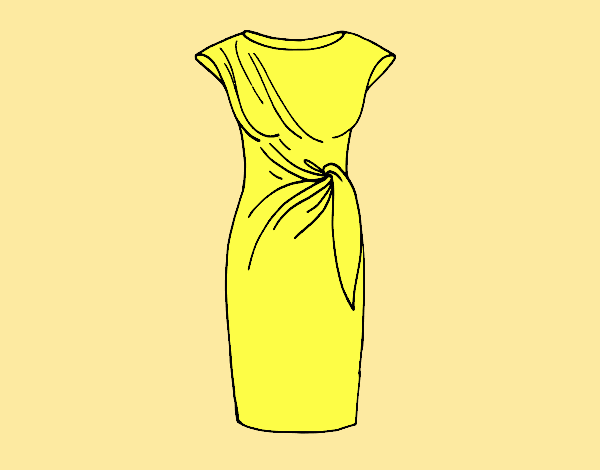 Coloring page Elegant dress painted byLornaAnia