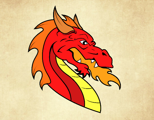 European dragon head