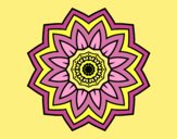 Coloring page Flower mandala of sunflower painted byLornaAnia