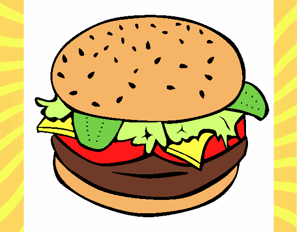 Hamburger with everything
