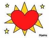 Heart-shaped sun