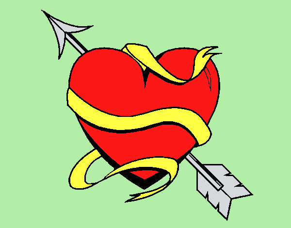 Coloring page Heart with arrow III painted byLornaAnia