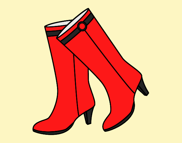 Coloring page High boots painted byLornaAnia