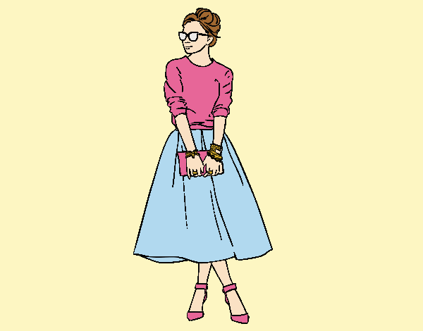 Coloring page It girl painted byLornaAnia