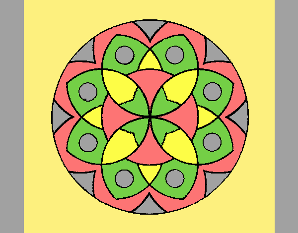 Coloring page Mandala 13 painted byANIA2