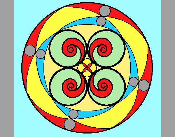 Coloring page Mandala 5 painted byANIA2