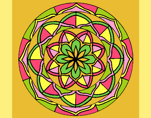 Coloring page Mandala 6 painted byANIA2