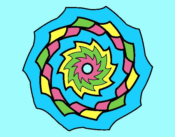 Coloring page Mandala 9 painted byANIA2