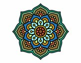 Mandala concentration flower