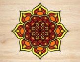 Mandala flower of fire