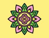 Coloring page Mandala lotus flower painted byLornaAnia