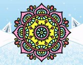 Coloring page Mandala to relax painted byTurtletori
