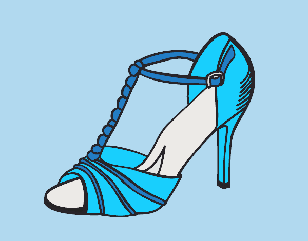 Coloring page Party shoe painted byLornaAnia