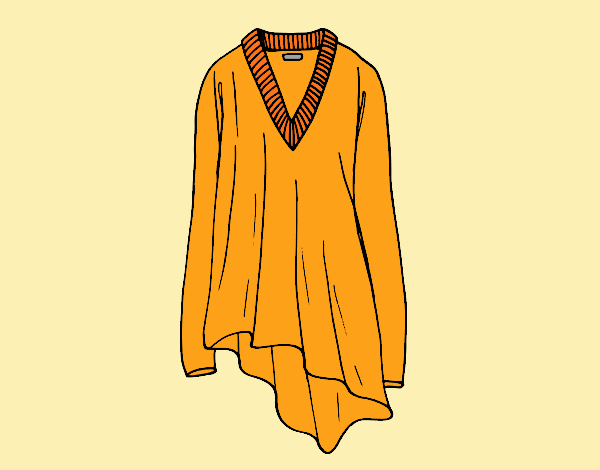 Coloring page Poncho painted byLornaAnia