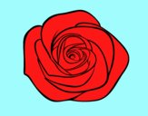 Coloring page Rose flower painted byLornaAnia
