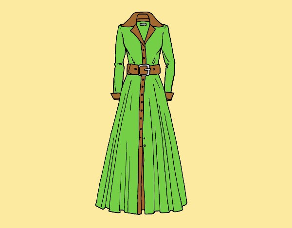 Coloring page Shirtdress painted byLornaAnia