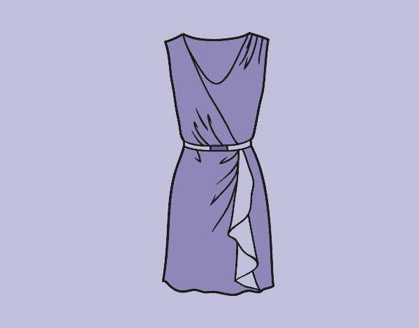 Coloring page Simple dress painted byLornaAnia