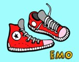 Coloring page Sneakers painted byJakeMaster