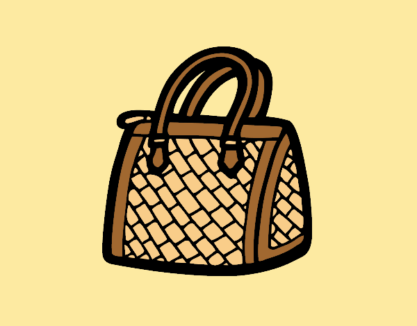 Coloring page Textured bag painted byLornaAnia