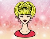 Coloring page Up-do  painted byalexadra