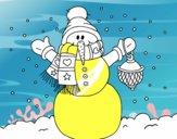 A Christmas snowman