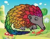 Coloring page Pangolin painted byfawnamama1