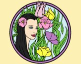 Coloring page Princess of the forest 3 painted byLornaAnia