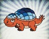 Coloring page Ankylosaurid painted byfawnamama1