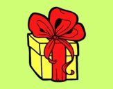 Coloring page Christmas gift painted byLornaAnia