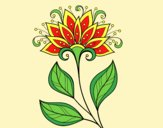 Coloring page Decorative flower painted byLornaAnia