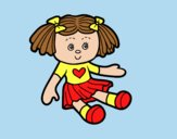 Coloring page Doll Toy painted byLornaAnia