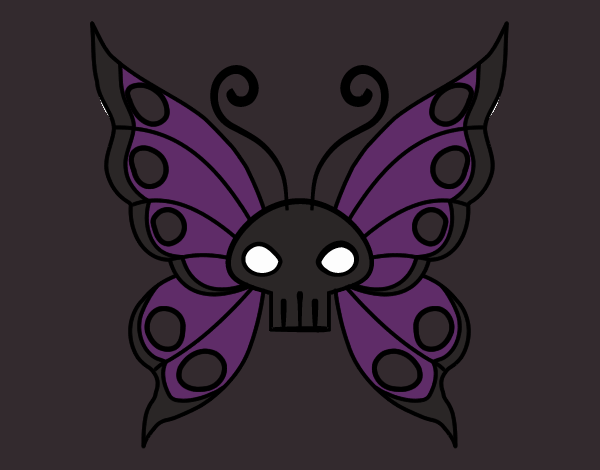 Coloring page Emo butterfly painted byBella0