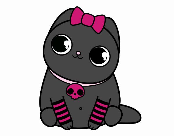 Emo kitten