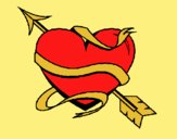 Coloring page Heart with arrow painted byLornaAnia