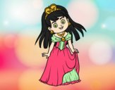 Coloring page Princess charming painted byLornaAnia