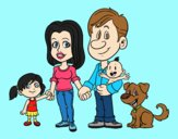 Coloring page A united family painted byLornaAnia