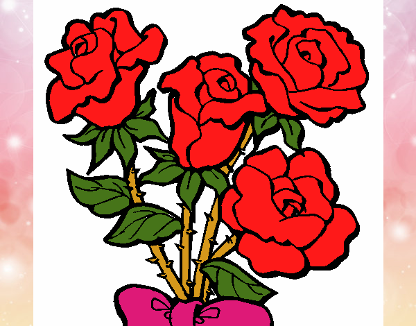 Coloring page Bunch of roses painted bylisa2018