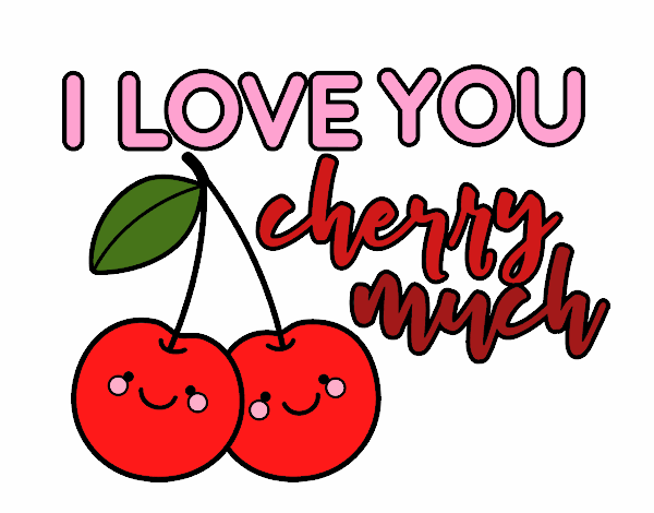 Coloring page I love you cherry much painted bylisa2018