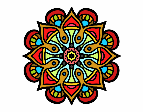 Coloring page Mandala arab world painted bylisa2018