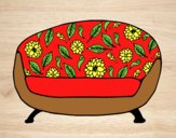 Coloring page Vintage Couch painted byLornaAnia