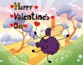 Coloring page A Happy Valentine's Day painted byBella0