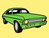 Coloring page American car painted byLornaAnia