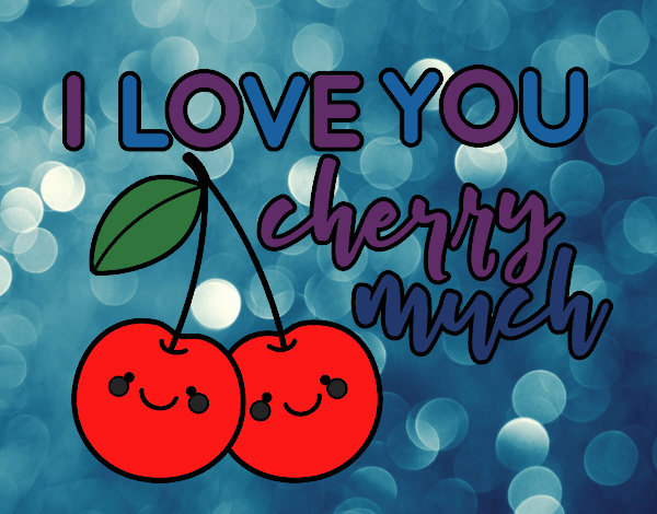 Coloring page I love you cherry much painted byBella0