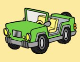 Coloring page Jeep painted byLornaAnia