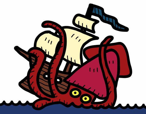 Steampunk Kraken Coloring page and traceable for The Art Sherpa ...   470x600