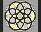 Coloring page Mandala 11 painted byLornaAnia