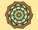 Coloring page Mandala 9 painted byLornaAnia