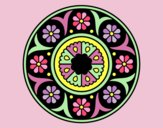 Coloring page Mandala flower painted byLornaAnia